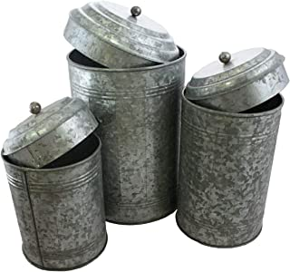 Well Pack Box Galvanized Canister Farmhouse Rustic Collection For Kitchen