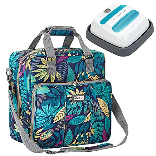 HOMEST Heat Press Machines Carrying Case, Compatible with Cricut Easy Press 2, 9 x 9 inches, Floral (Patent Design)