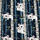 MAGAM-Stoffe Chill Out Koala Bär Kinder Stoff Oeko-Tex