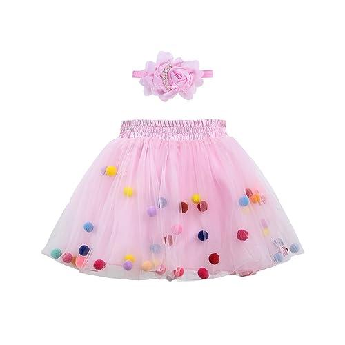 240cbd6106 Zcaynger Infant Baby Girls Tutu Skirt 4 Layers Soft Tulle Puff Ball Dress  for Toddler Girls