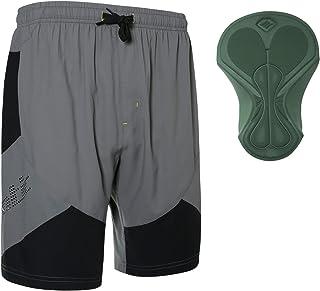 Santic Men's Padded Mountain Bike Shorts Loose-fit Lightweight MTB Shorts for Men Hebre