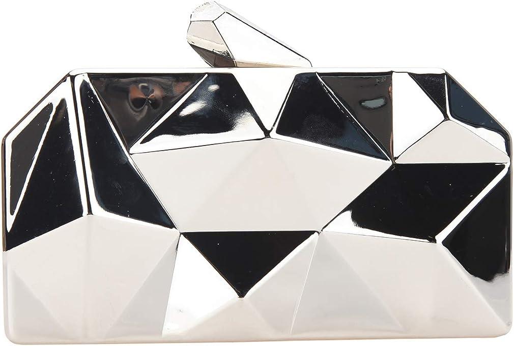 Fawziya Polygon Evening Bags And Clutches For Women Box Clutch Purse