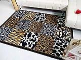 Desconocido Stock ALFOMBRAS. Alfombra salón Animal Print Multicolor 160x210.