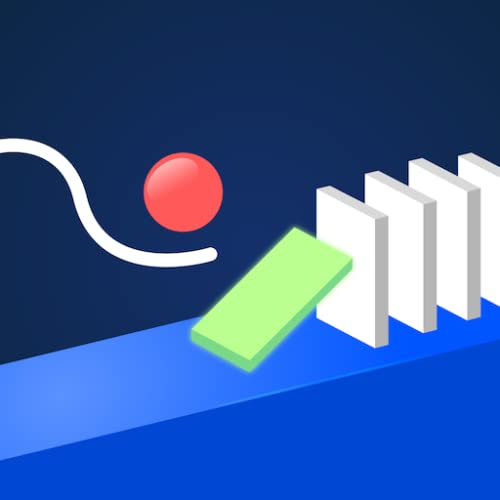 Hello Happy Domino - *WARNING* HARDEST GAME ! Physics Draw and Drop - popular super simple fun games for free (2019) no wifi