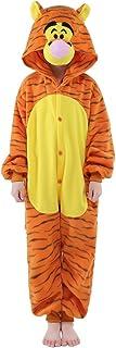 NEWCOSPLAY Halloween Unisex Child Tigger One-Piece Pajamas Costume