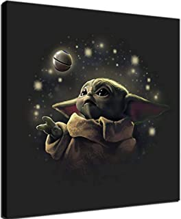 hgjfg Bilder Wandbild 150x80cm Leinwandbild 5 TLG Kunstdruck Star Wars Das mandalorianische Baby Yoda Cute modern Wandbilder XXL Wanddekoration Design Wandkunst 5 St/ücke Leinwand Wohnzimmer Dekoration