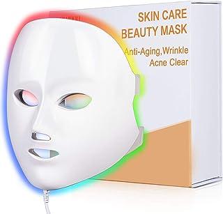 ماسک آکنه نور درمانی NEWKEY ، ماسک مراقبت از پوست صورت 7 رنگ Led Light Therapy - با آبی که از نظر بالینی اثبات شده است