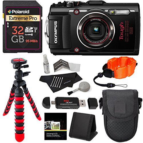 Olympus TG-4 16 MP Waterproof Digital Camera with 3-Inch LCD (Black) +...