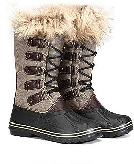 Outdoor Pluche Vrouwen Snowboots, Oxford Doek Lichtgewicht Grote Maat Warme Winter Hoge Laarzen Vilt Plus Kunstmatige Pluc...