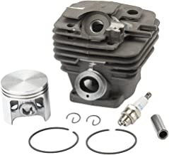 Hilom 47mm Cylinder Piston Kits with Spark Plug for Stihl MS361 MS361C MS341 Chainsaw 1135 020 1202