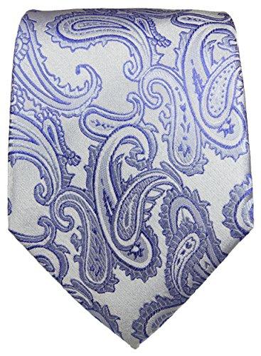 Cravate homme argenté violet ensemble de cravate 3 Pièces ( longueur 165cm )