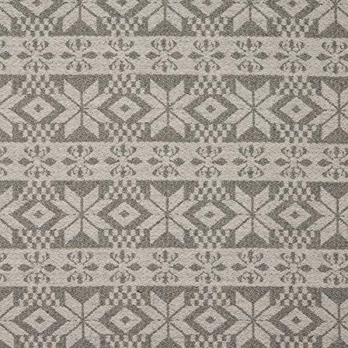 Decoración inglesa para muebles, tela ignífuga Lana Highland con ornamentos beis, tela de tapicería para coser, lana virgen, absorción de ruido.