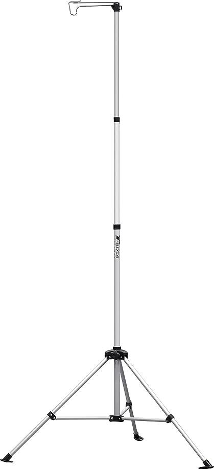 斧少数ずっとFIELDOOR アウトドア ランタンスタンド 折りたたみ式 高さ103cm-232cm アルミ素材 (ドライネットスタンドにも)