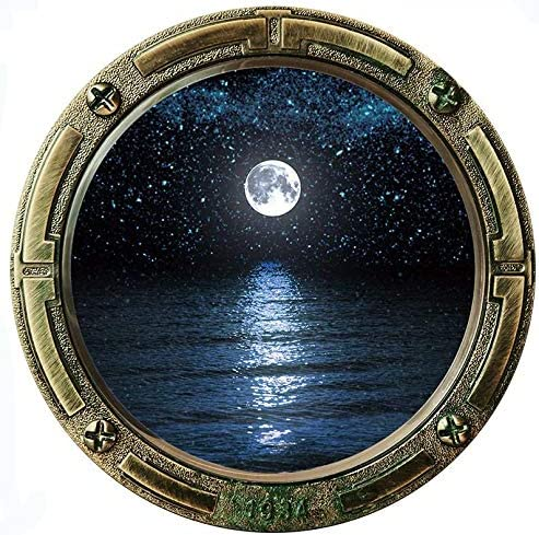 Home Find Moon Wall Decals Porthole Stickers Porthole Wall Decal Submarine Porthole Decor Wallpaper product image