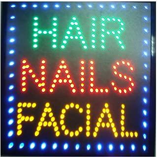 CHENXI led beauty salon hair salon sign billboard led neon light animated electronic animated led sign 48 X 25CM indoor (48 X 48 CM, C)