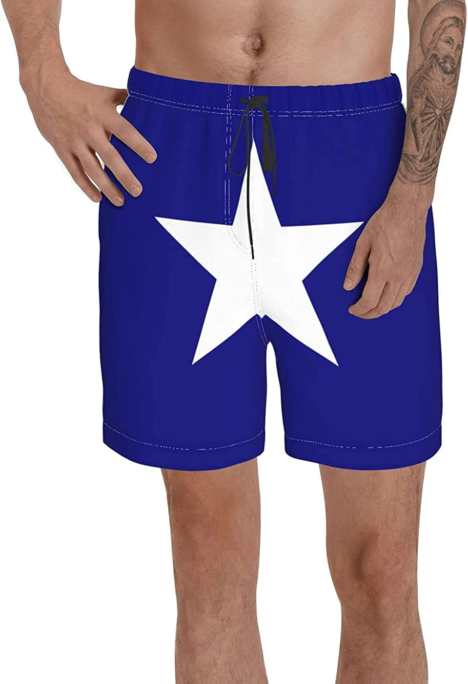 Bonnie Blue Flag Men's 3D Printed Funny Summer Quick Dry Swim Short Board Shorts with