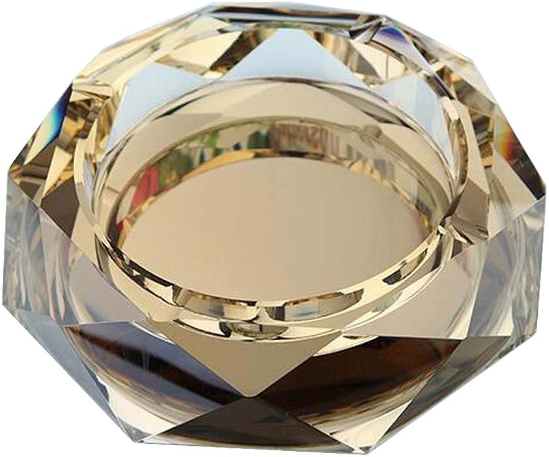 schwarz Temptation [Golden] Rhombus Rhombus Rhombus Form Crystal Cigarette Aschenbecher Aschenbecher Tabletop Dekor B07BHM4YTB 577072