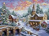ディメンジョンズ クロスステッチ 刺繍キット クリスマスを待つ村 Dimensions Needlecrafts Counted Cross Stitch Holiday Village DIM クロスステッチキット Holiday Village 【並行輸入品】