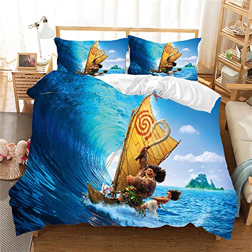 Bcooseso Duvet Cover Set Cartoon anime character 3D Bedding Microfibre 3D Digital Print 3 Piece Set Children and Teenagers, Single size 135 x 200 cm