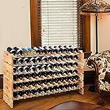 COSTWAY Weinregal Holz, Weinständer für 72 Flaschen, Flaschenregal 6 Höhe zur Auswahl, Holzregal stabil, Weinschrank Flaschenständer - 9
