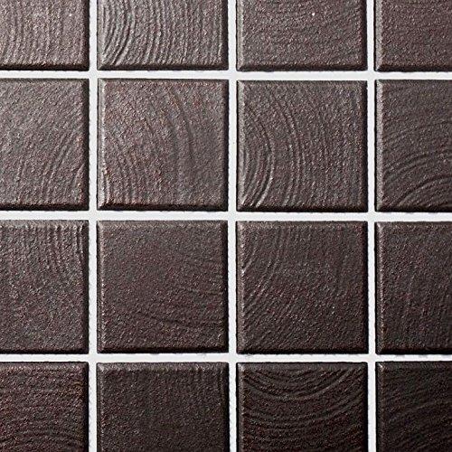 Mosaik Fliese Keramik braun struktur für BODEN WAND BAD WC DUSCHE KÜCHE FLIESENSPIEGEL THEKENVERKLEIDUNG BADEWANNENVERKLEIDUNG Mosaikmatte Mosaikplatte