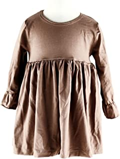 Wennikids Little Baby Girls' Long Sleeve Cotton Ruffle Top Dress