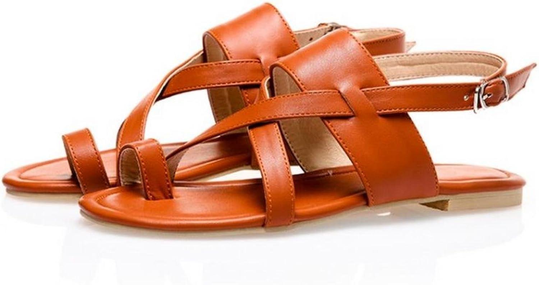 Women Flat Sandals Clip Toe Sandals Lady Real Leather shoes Flip Flops Beach shoes