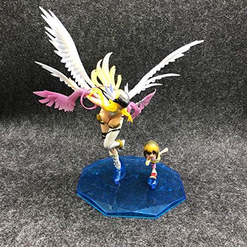 Rqcaxp Vinyl Action Figuren Anime Digital Monster Angemon & Angewomon Modell Actionfigur Spielzeug-A Höhe Ca. 23 cm. Nendoroid Action Figure Model Figurine