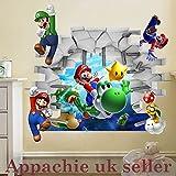 Super Mario Enfants Chambre Sticker mural k146(50* * * * * * * * 70) cm