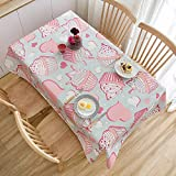 LIUJIU TableclothStain and Wrinkle Resistant Washable Polyester Table Cloth, Decorative Fabric Table Cover for Dining Table, Buffet Parties and Camping,140x200cm