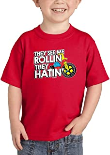 HAASE UNLIMITED They See Me Rollin They Hatin' - Funny Infant/Toddler Cotton Jersey T-Shirt