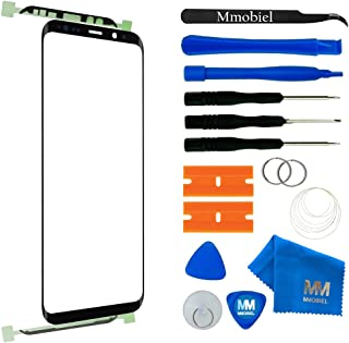MMOBIEL Front Glass Repair Kit Compatible with Samsung Galaxy S9 Plus G965 (Black) Display Touchscreen incl. Tool Kit
