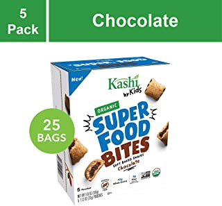 Kashi by Kids Super Food Chocolate Bites - Soft Baked Organic Snacks | Fair Trade Cocoa | Peanut Free - 5 Count (Pack of 5)