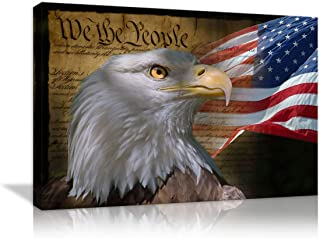 Eagles And Snake Feathers Handmade Wood Poster 10.25x16.25