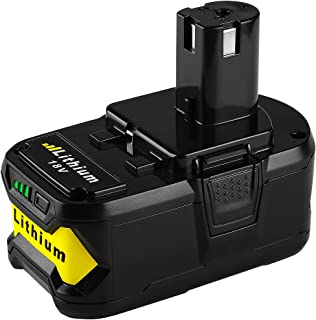 Energup P108 Lithium Battery 18V 5000mAh with Recharge Indicator for Ryobi 18-Volt ONE+ Tool P102 P103 P104 P105 P107 P108...
