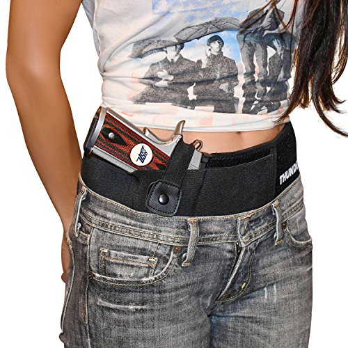 "Thunderbolt XL Concealed Carry Belly Band Gun Holster Most Comfortable IWB Waistband for Men and Women (Up to 50"" Waist)"
