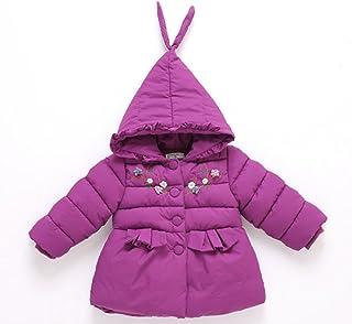 BAISNOW ガールズコート 綿入りのコート 可愛い 冬コート 新型 厚手 膝丈コート 女の子コート