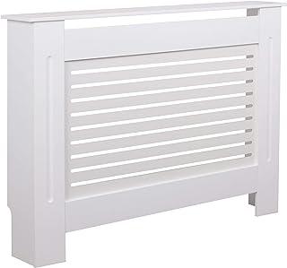 WOHNLING WL5.745 - Cubierta para radiador (Madera, 112 x 82 x 19 cm), Color Blanco