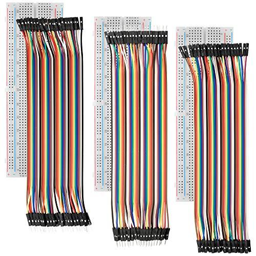 AZDelivery Breadboard Kit - 3x Jumper Wire m2m/f2m/f2f + 3er Set MB102 Breadbord inklusive E-Book!