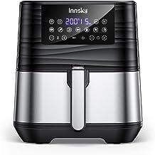 Innsky 5,5L XXL Friteuse sans huile en acier inoxydable avec écran LCD numérique, 7 programmes, Friteuse à air chaud 1700W...
