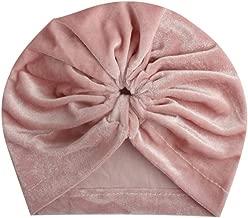 JZD Velvet Baby Hat Turban Flower Newborn Baby Girl Hat Beanie Cap Autumn Winter Infant Toddler Kids Girls Bonnet