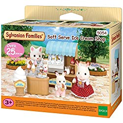 Lovely small shop selling soft serve ice cream Included are over 15 pieces Levers of ice cream server can be moved Stimulating imaginative role-play in children Suitable for ages 3 years to 10 years