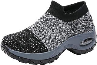 Kuason Femmes Air Respirant Mesh Sports Chaussures de Course Choc Absorbant Trainer Courir Sneakers Outdoors Jogging Train...