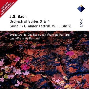 Bach, JS : Orchestral Suites Nos 3, 4 & Suite in G minor  -  Apex