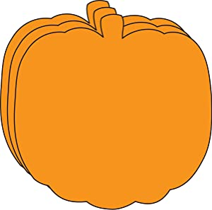 """5.5"""" Pumpkin Single-Color Creative Paper Cut-Outs, 31 Cut-Outs in a Pack for Fall and Thanksgiving Décor and Kids' Craft Projects for School/Classroom."""