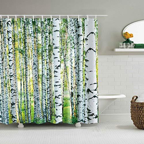 Deirdre Agnes Gedrukt 3d douchegordijnpatroon badkamer douche waterdicht en schimmel decoratief douchegordijn 180x180cm