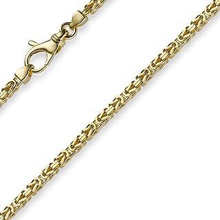 Collana a maglia bizantina in oro giallo 750, 60 cm
