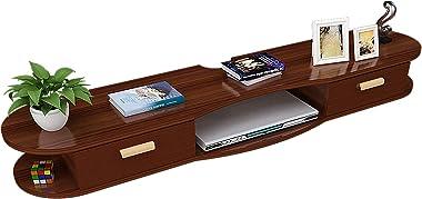 TV Cabinet, TV Lowboard, Floating Shelves, Floating TV Stand Component Shelf, TV Cabinet Rack, Set-Top Box Wall Mount, 39.3/4