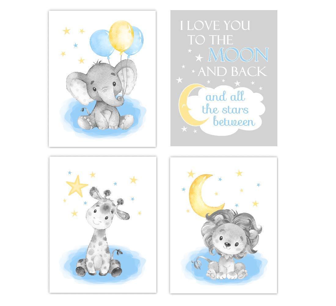 Deluxe Baby Ultra-Cheap Deals Boy Nursery Art Elephant Giraffe Lion You I Moo Love The To