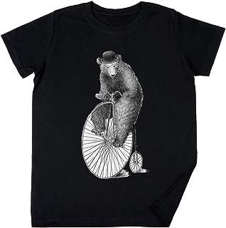 Vendax Mañana Paseo Niños Chicos Chicas Unisexo Camiseta Negro